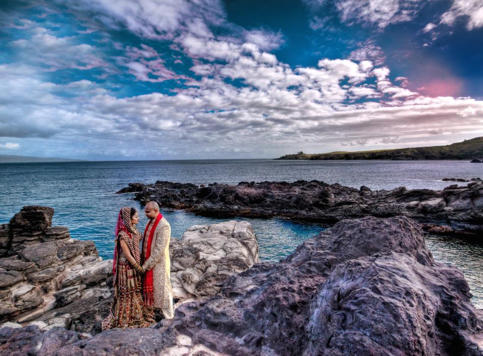 International wedding in Paradise Maui