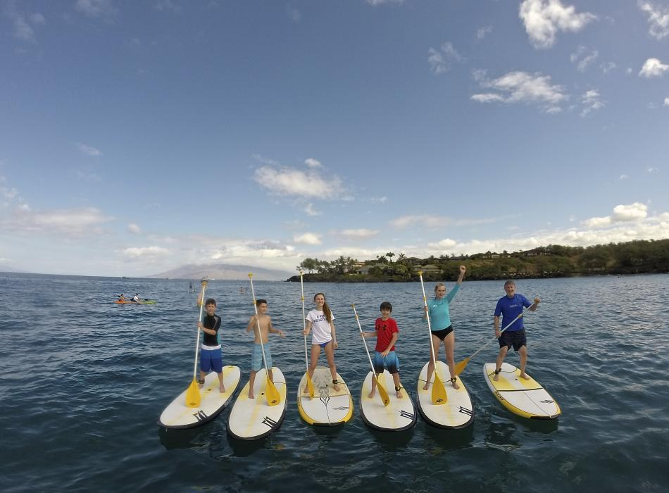 Family Stand Up Paddle Maui