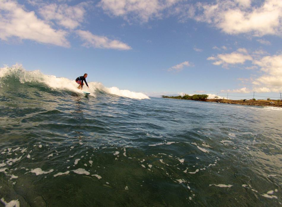 Catching that Perfect Maui Wave