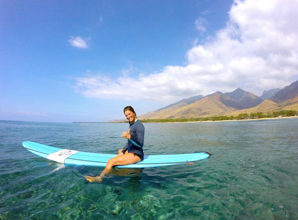 Surfing West Maui Mountains