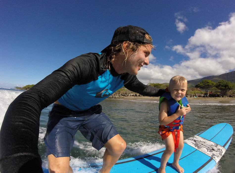 Little Surfer Boy on Maui