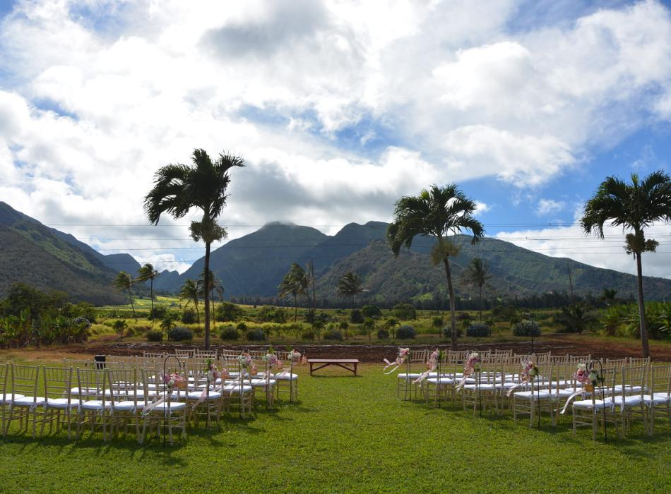 Wedding setting at the Grand View