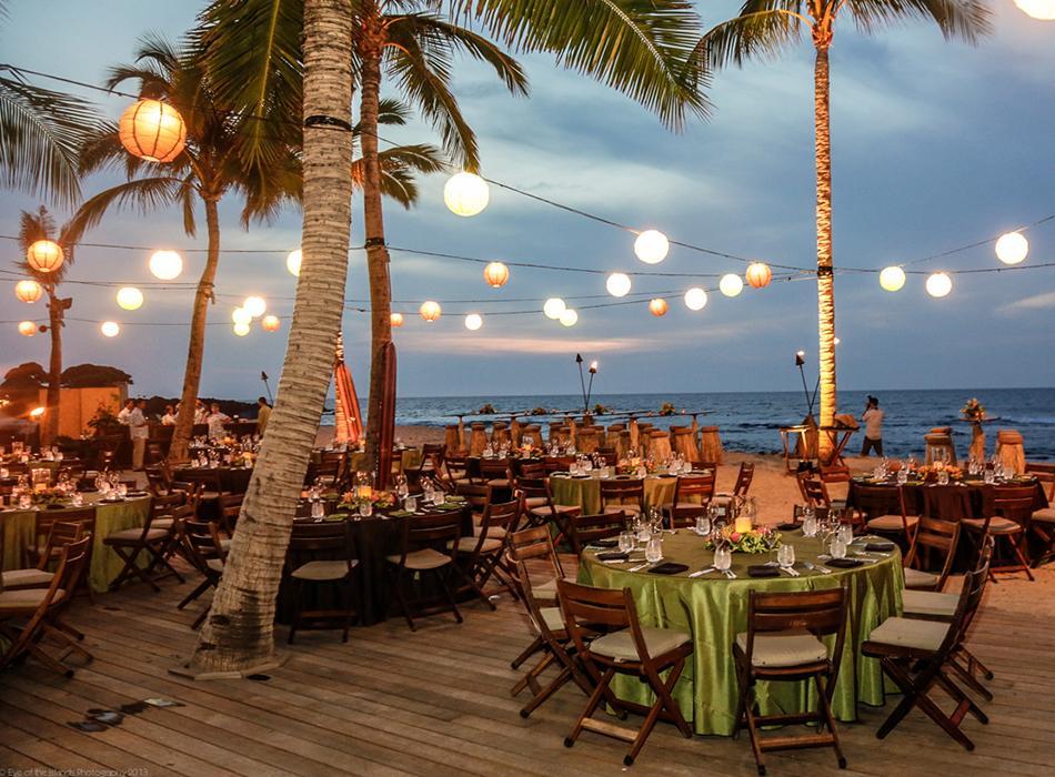 Retro Hawaii Event with Custom Lighting