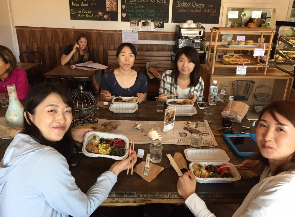Enjoy a delicious lunch at Kaimana Cafe