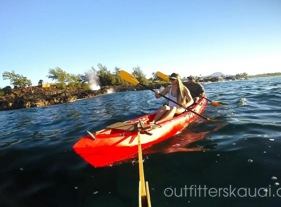 Kayak Kauai's Poipu Coastline - Paddle to hidden beaches on the South Shore of Kauai with Outfitters Kauai