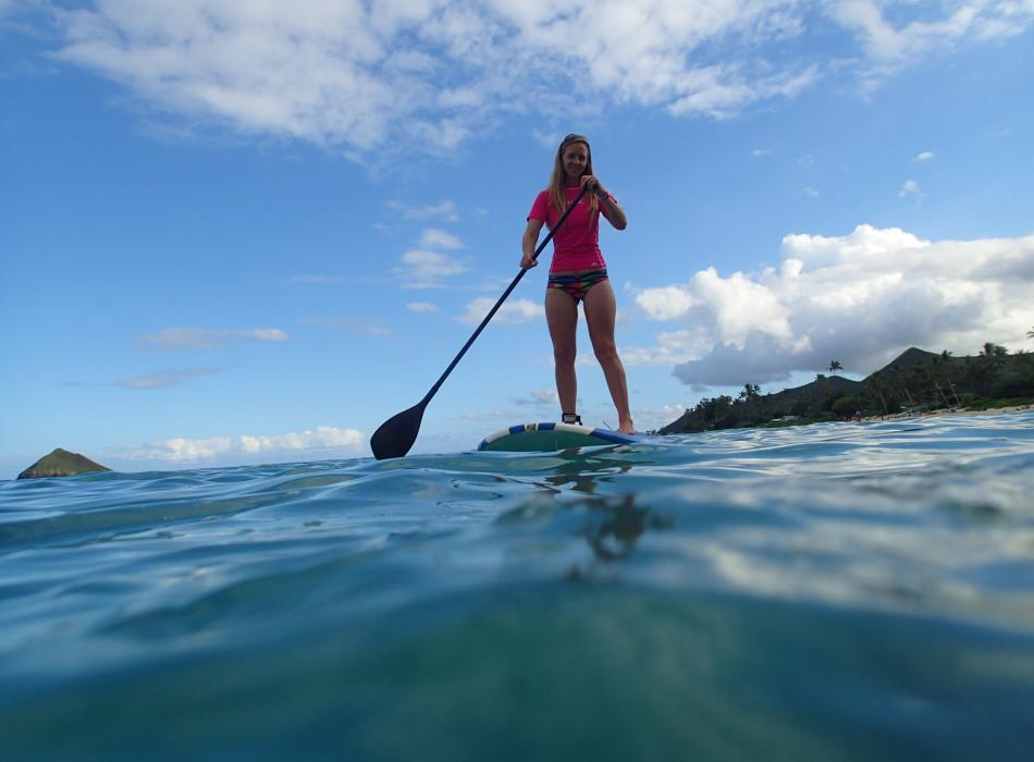 SUP on the ocean!