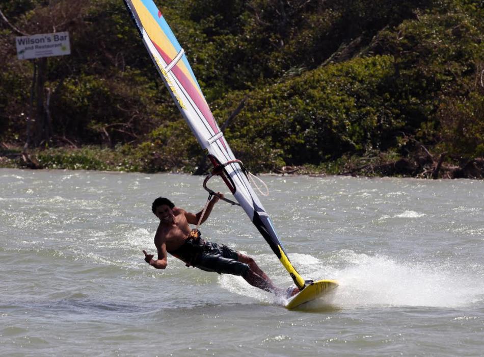 Windsurfing shaka!