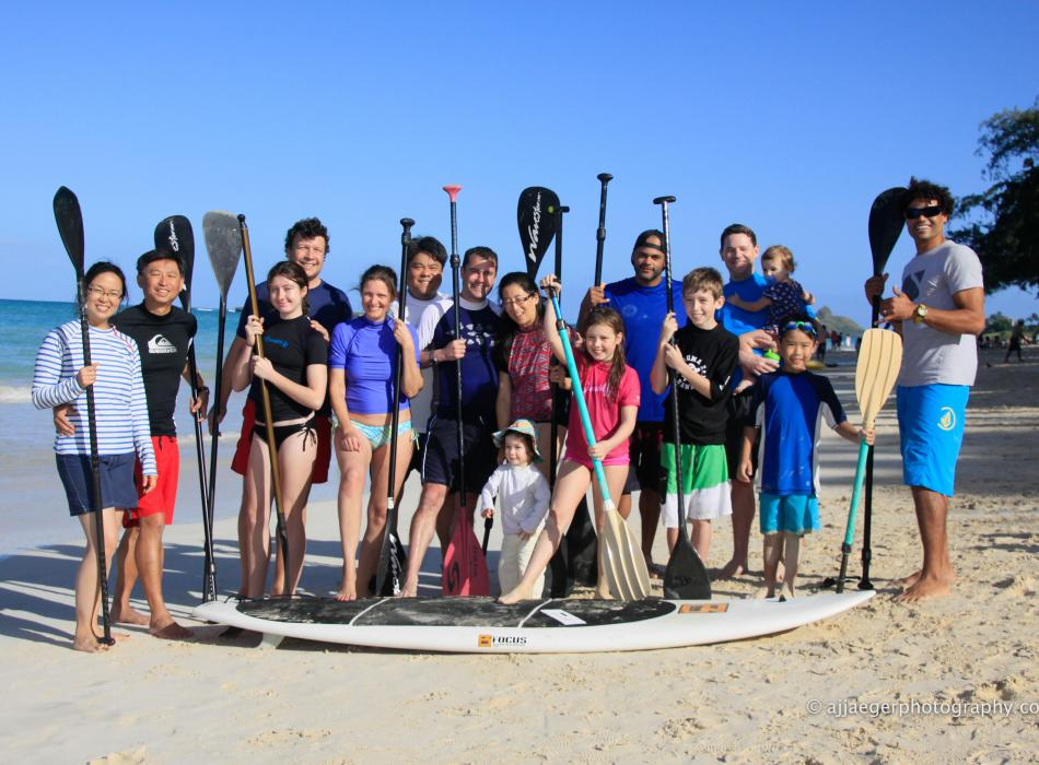 Family SUP lesson