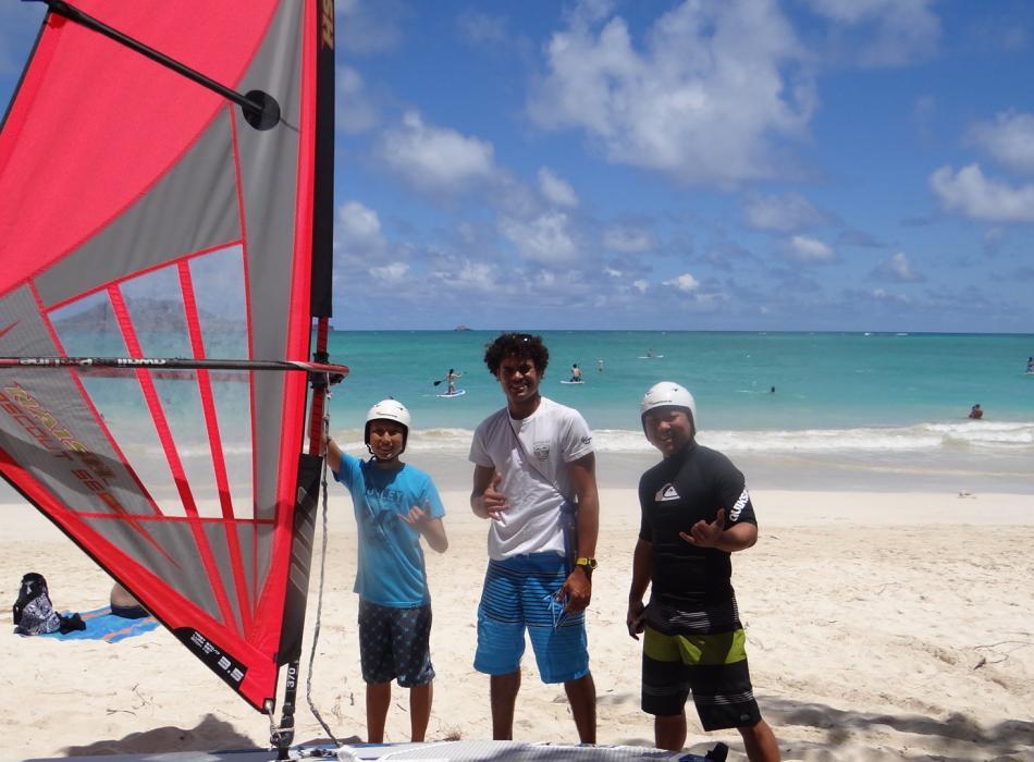 A beginner windsurf lesson