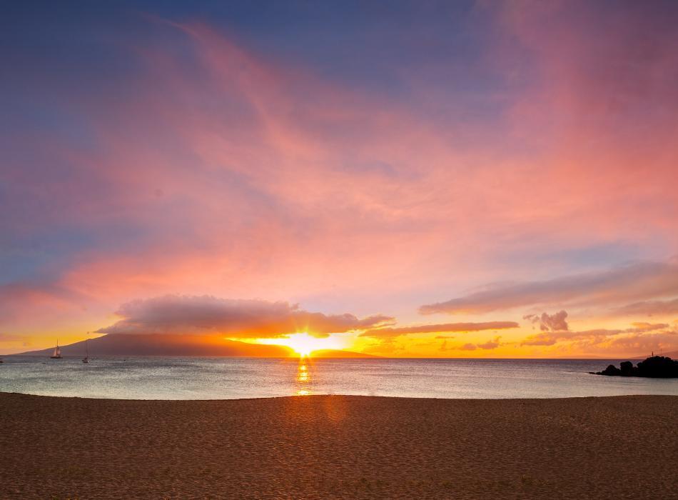 Sunset Kaanapali Beach