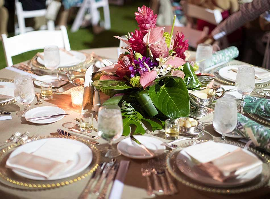 The Westin Hapuna Beach Resort Theme Dinner Tabletop