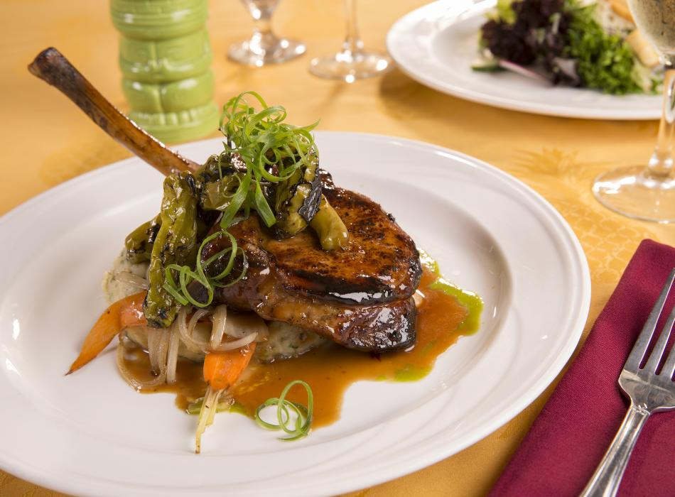 Tiki Terrace Restaurant Pork Chop