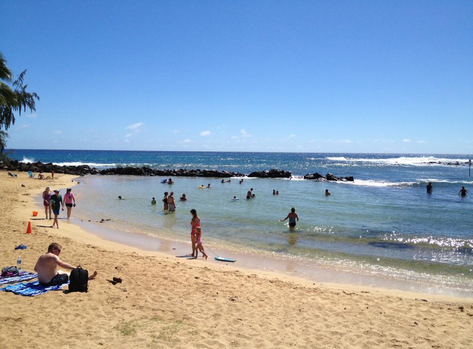 Poipu Beach Park on Kauai is great for all ages