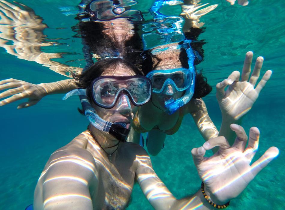 Enjoy snorkeling on any island