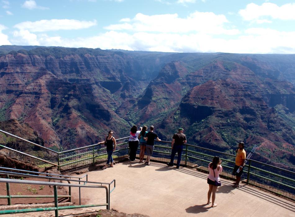 Admire Waimea Canyon on Kauai - maybe you'd like to do some hiking here?