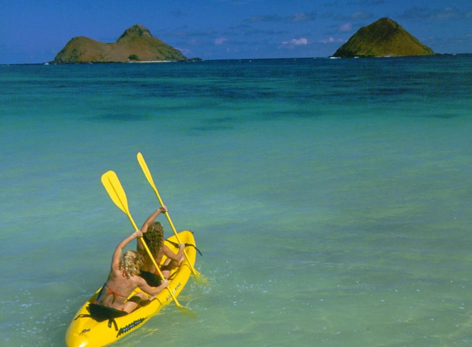 Your destination, the Mokulua Islands