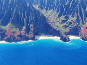 Honopu'u Beach on Napali Coast