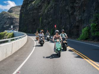 Hawaiian Style Moped Rentals on the East Side