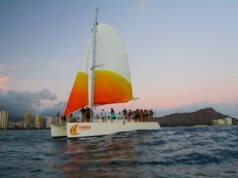 Soak in the view of Diamond Head aboard the Holokai