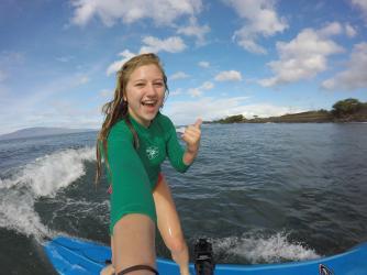 Surfing Selfie on Maui