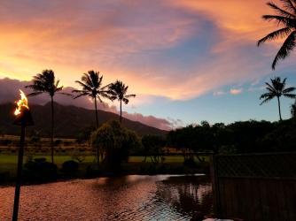 Sunset at Maui Tropical Plantation