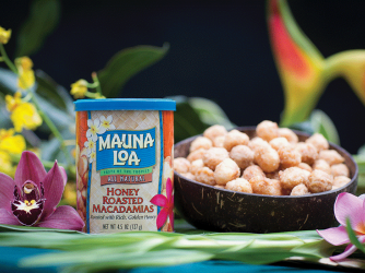 Honey Roasted Macadamias made at Mauna Loa's factory in Kea'au