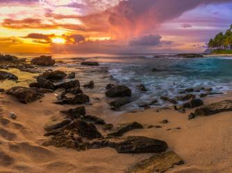 Leeward Coast Beach Sunset
