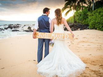 Beautiful Maui Sunset Weddings